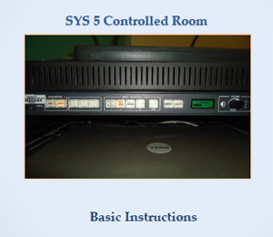 SYS5 Controlled Room