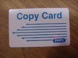 Library copy card